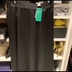 NWOT h&M Black Satin Midi Skirt